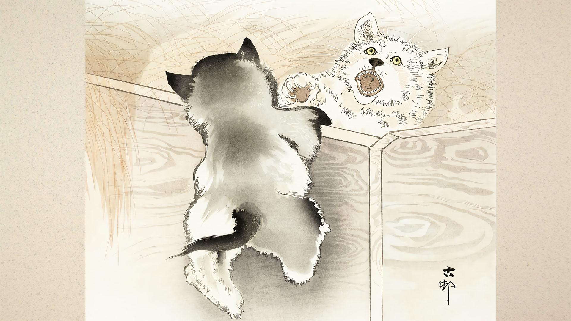Ohara Koson - Koinu 1920x1080
