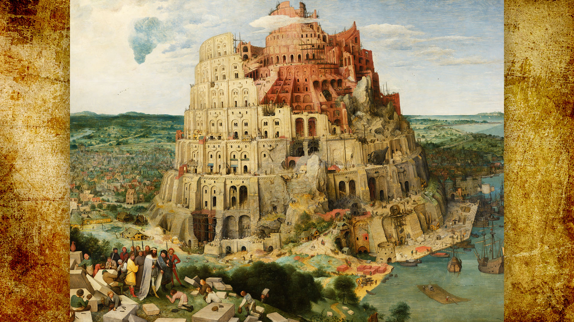 Pieter Bruegel - The Tower of Babel 1920x1080 2