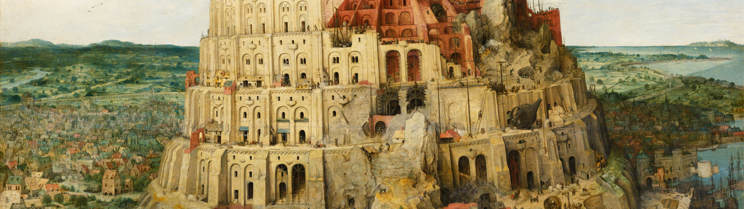 Pieter Bruegel - The Tower of Babel 3840x1080