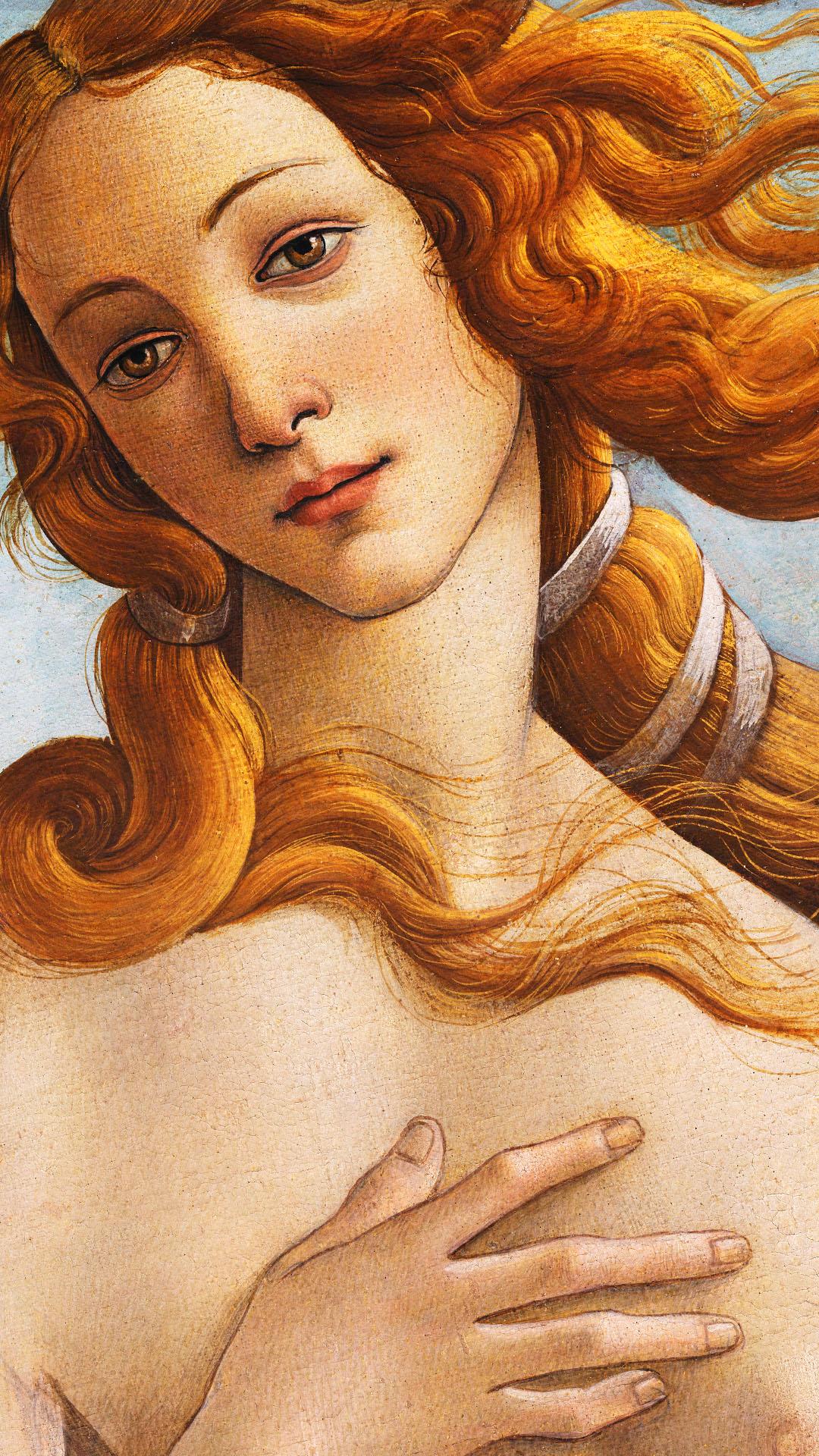 Sandro Botticelli - La nascita di Venere 1080x1920