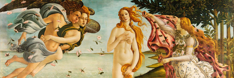 Sandro Botticelli - La nascita di Venere 1500x500