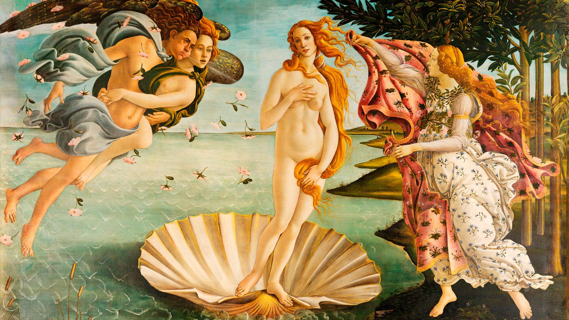 ビーナスの誕生 Sandro Botticelli - La nascita di Venere 1920x1080