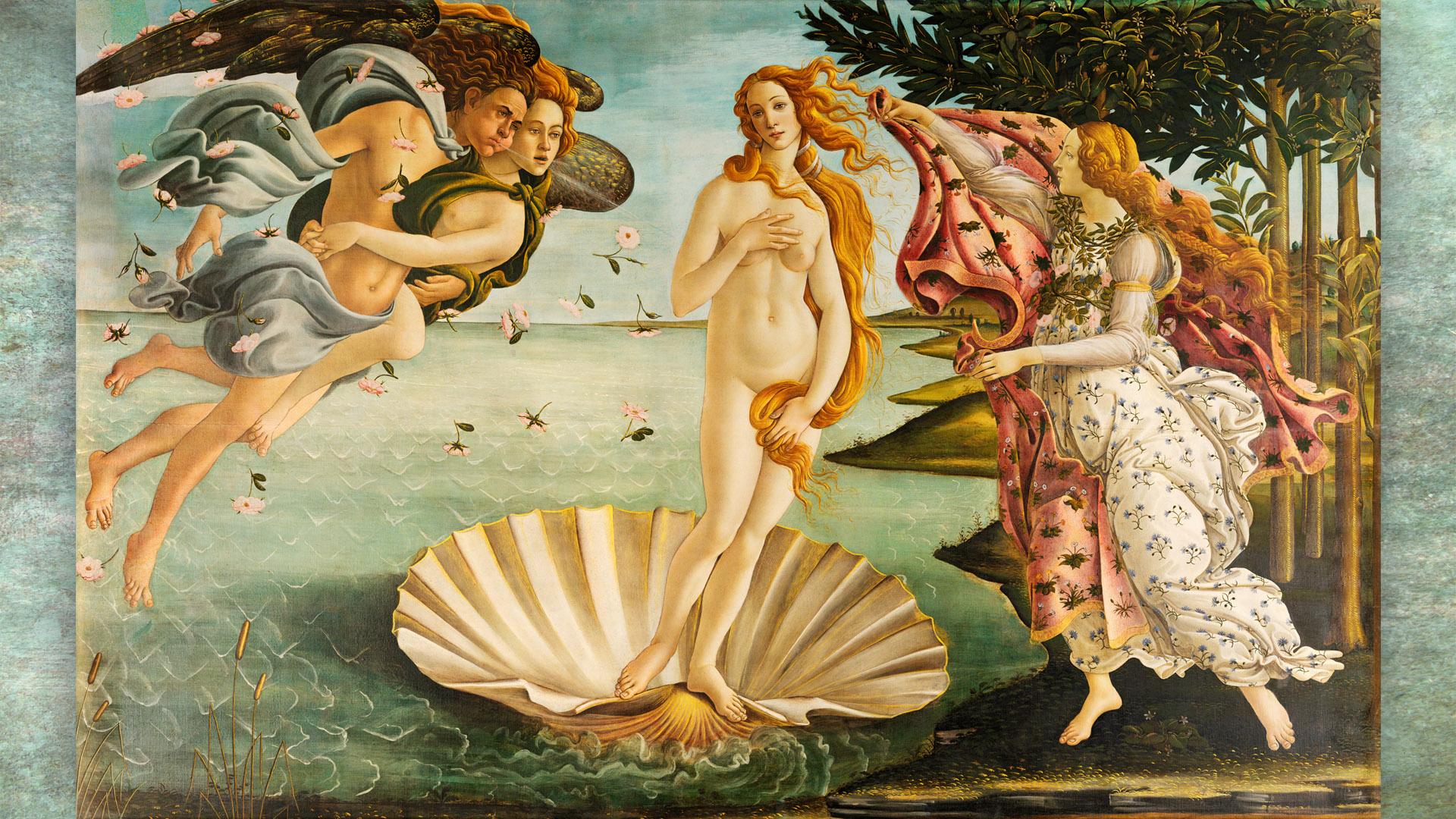 Sandro Botticelli - La nascita di Venere 1920x1080 2