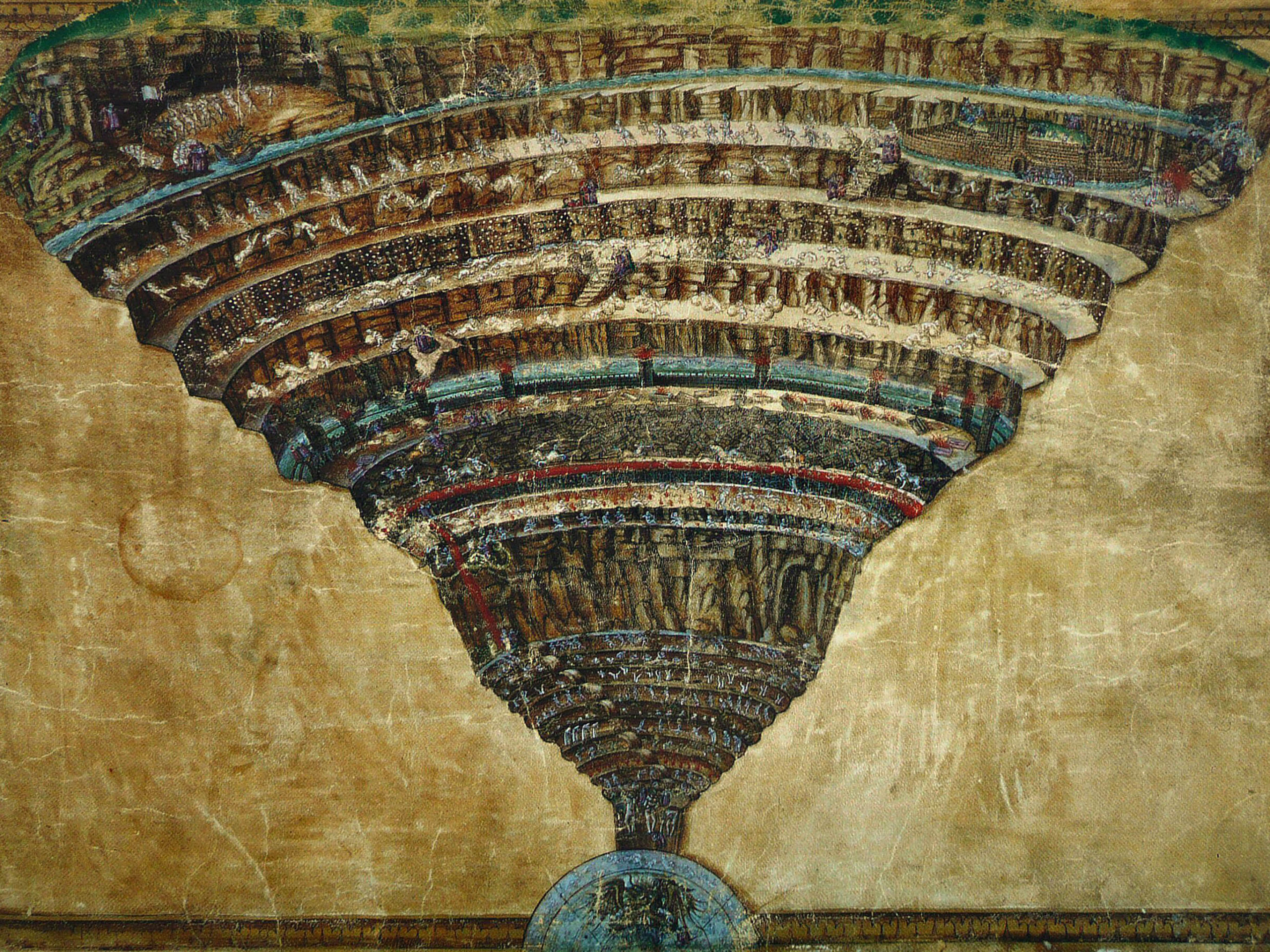 Sandro Botticelli Map of hell 2732x2048