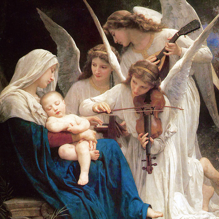 William Adolphe Bouguereau - Song of the Angels d