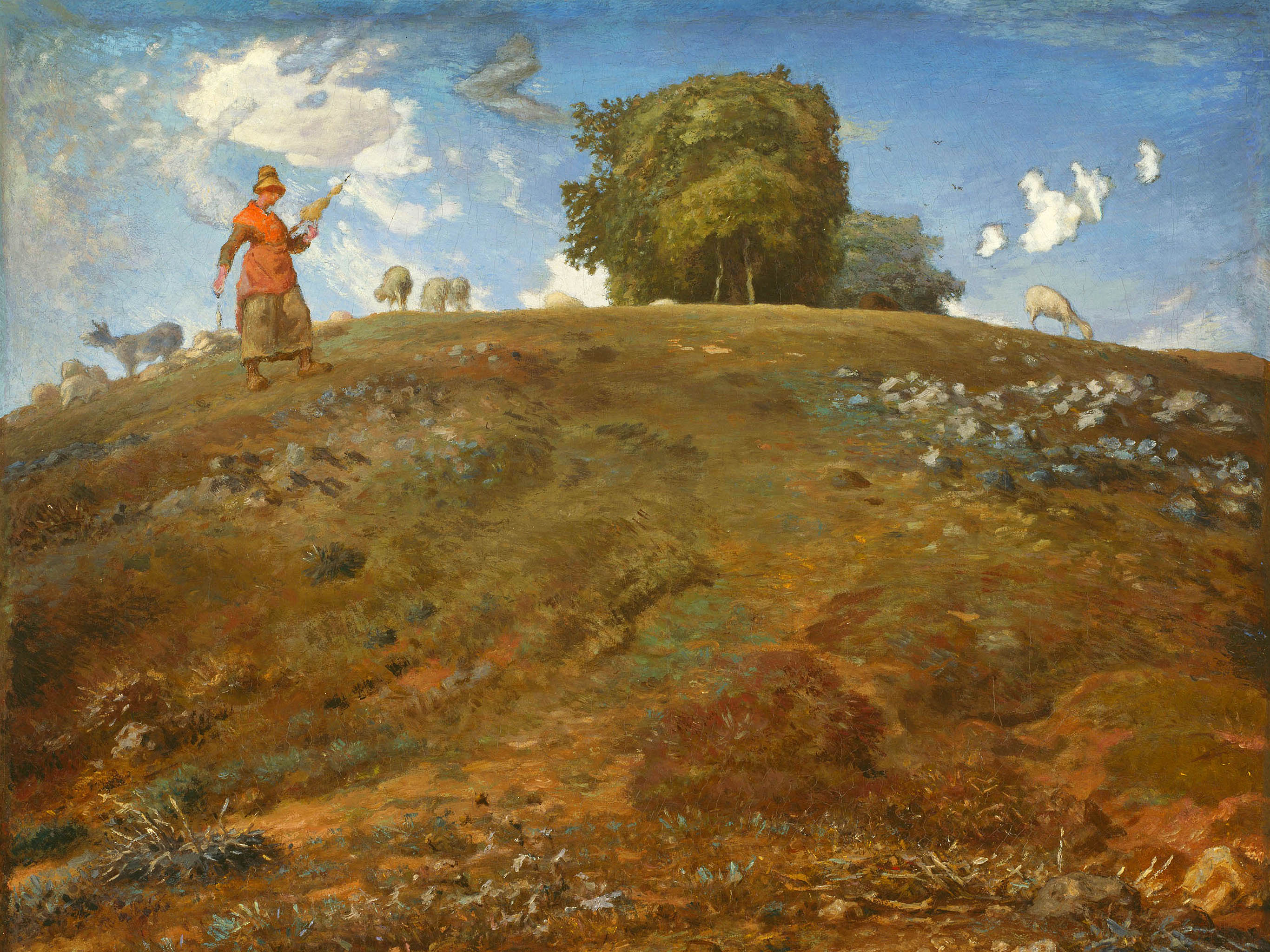 Jean-François Millet - In the auvergne 2732x2048