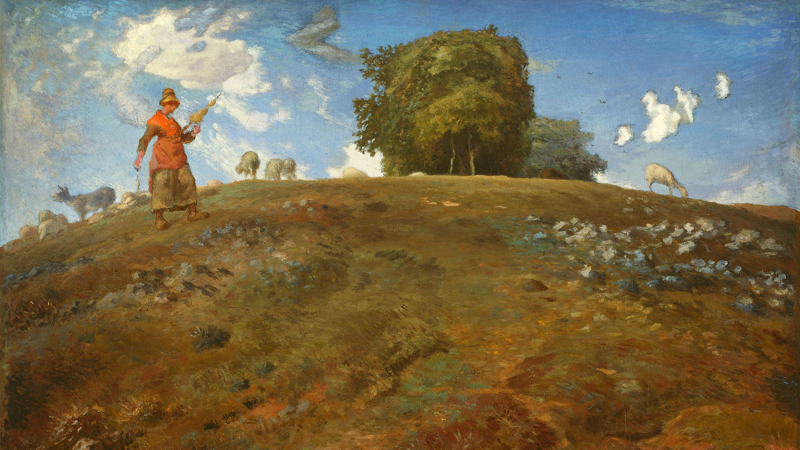 Jean-François Millet - In the auvergne 2560x1440