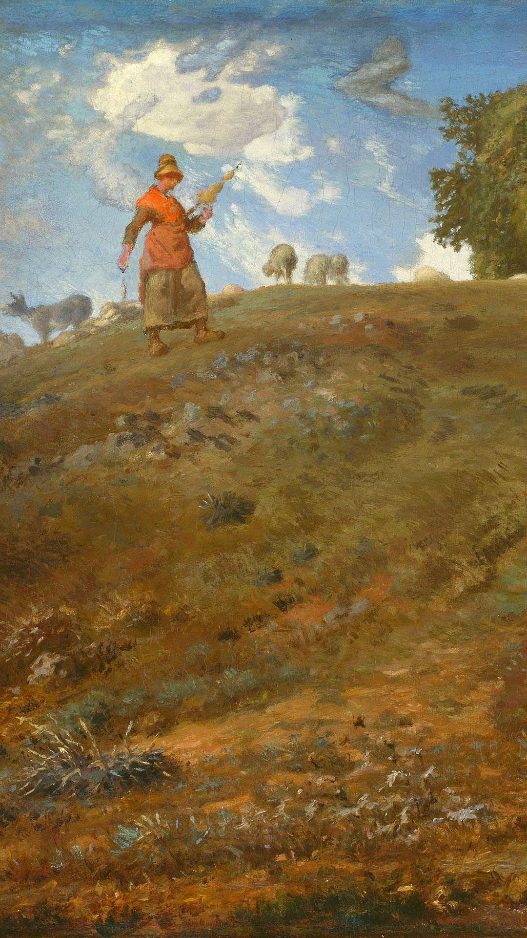 Jean-François Millet - In the auvergne 1080x1920