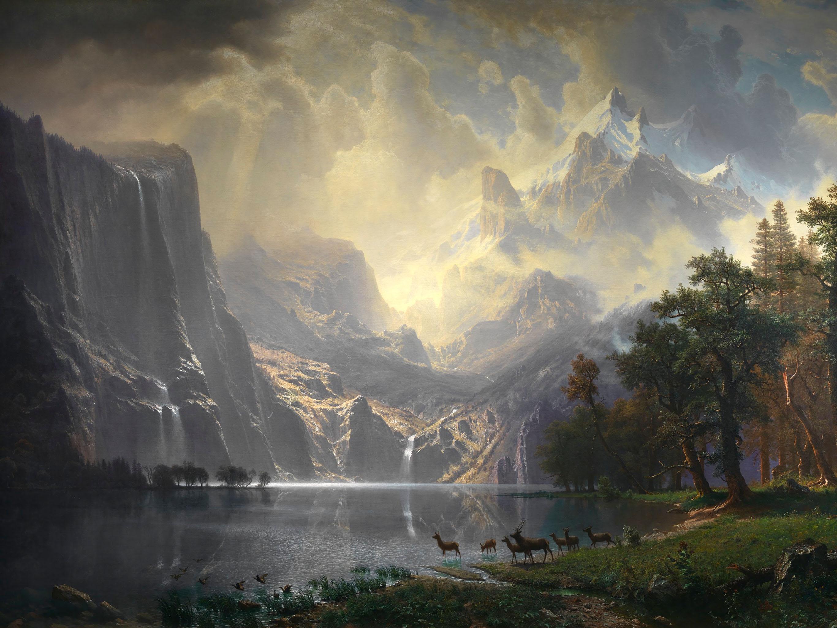 Albert Bierstadt - Among the Sierra Nevada, California 2732x2048