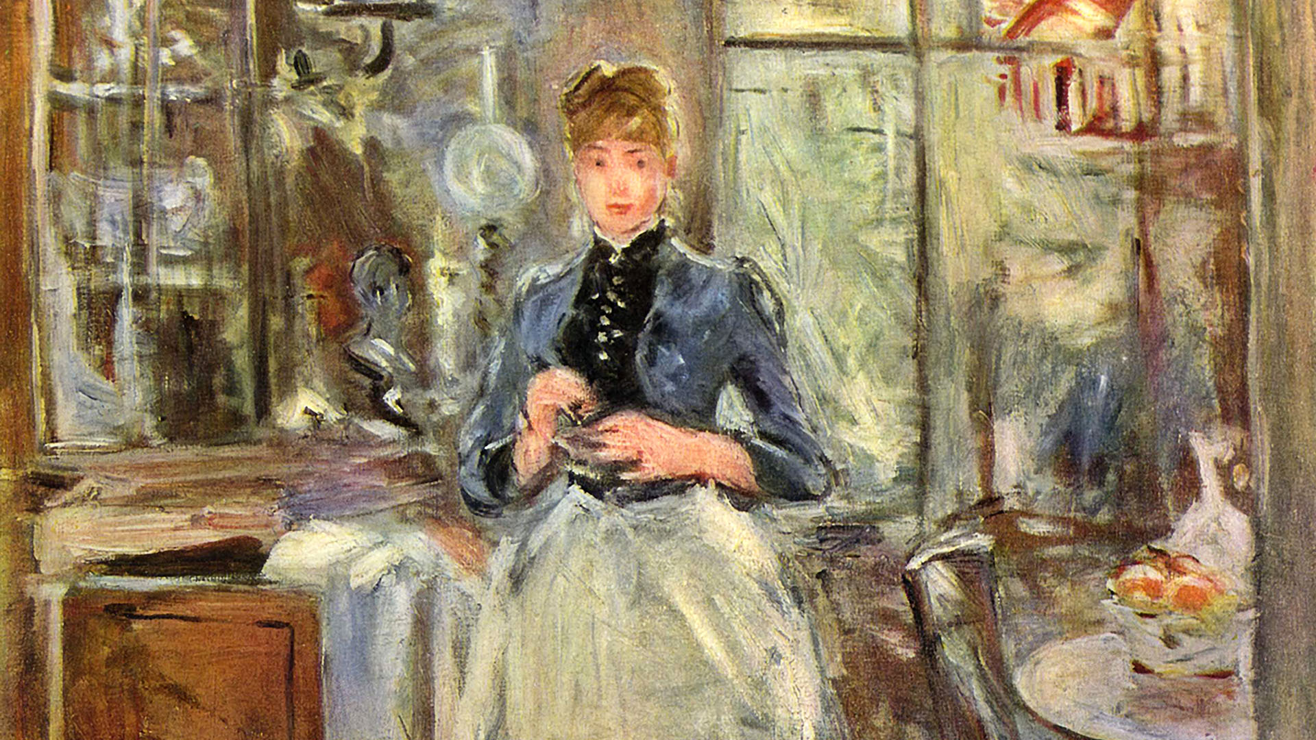 Berthe Morisot - In the Dining Room 1920x1080