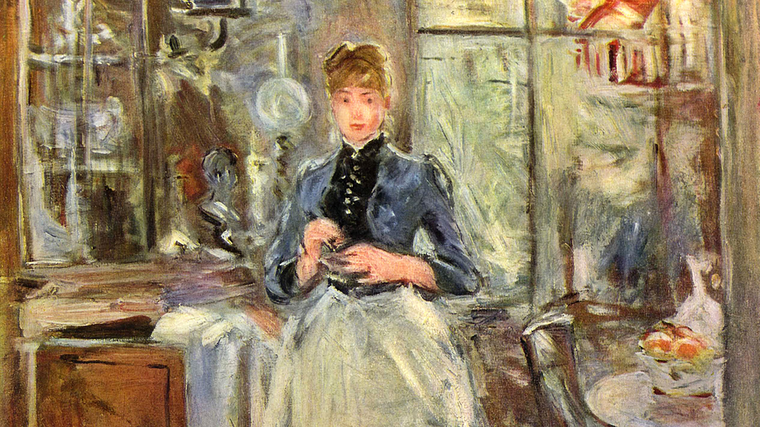 Berthe Morisot - In the Dining Room 2560x1440