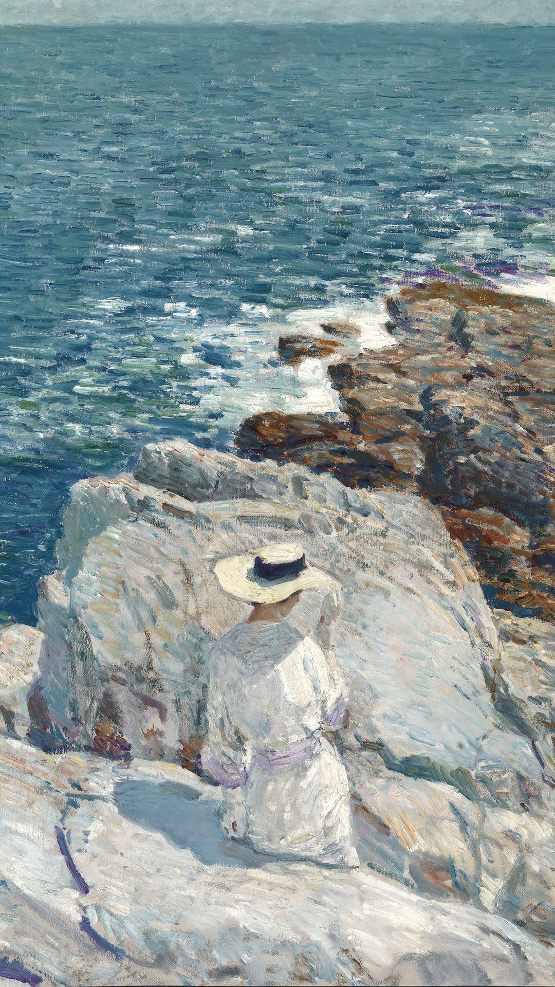 Childe Hassam - The South Ledges, Appledore 1080x1920