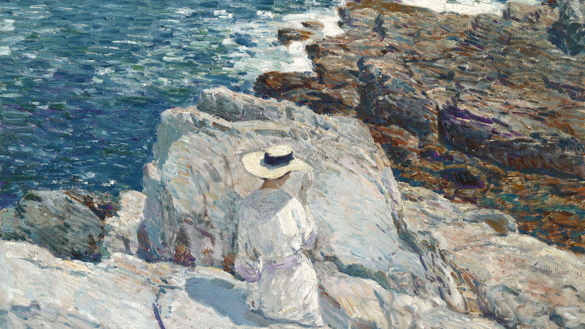 Childe Hassam - The South Ledges, Appledore 1920x1080