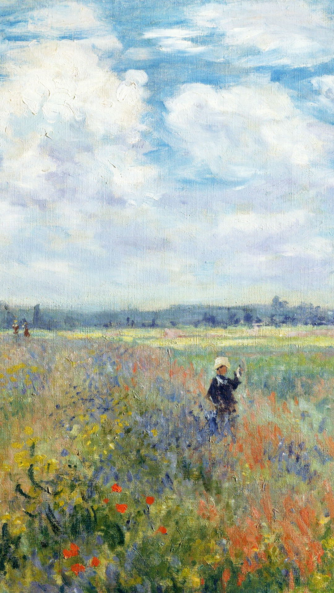 Claude Monet - poppy fields near argenteuil 1080x1920