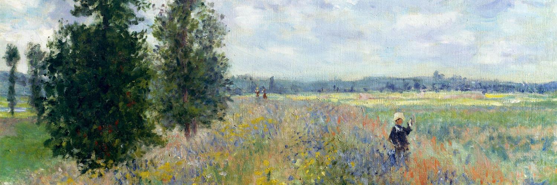 Claude Monet - poppy fields near argenteuil 1500x500