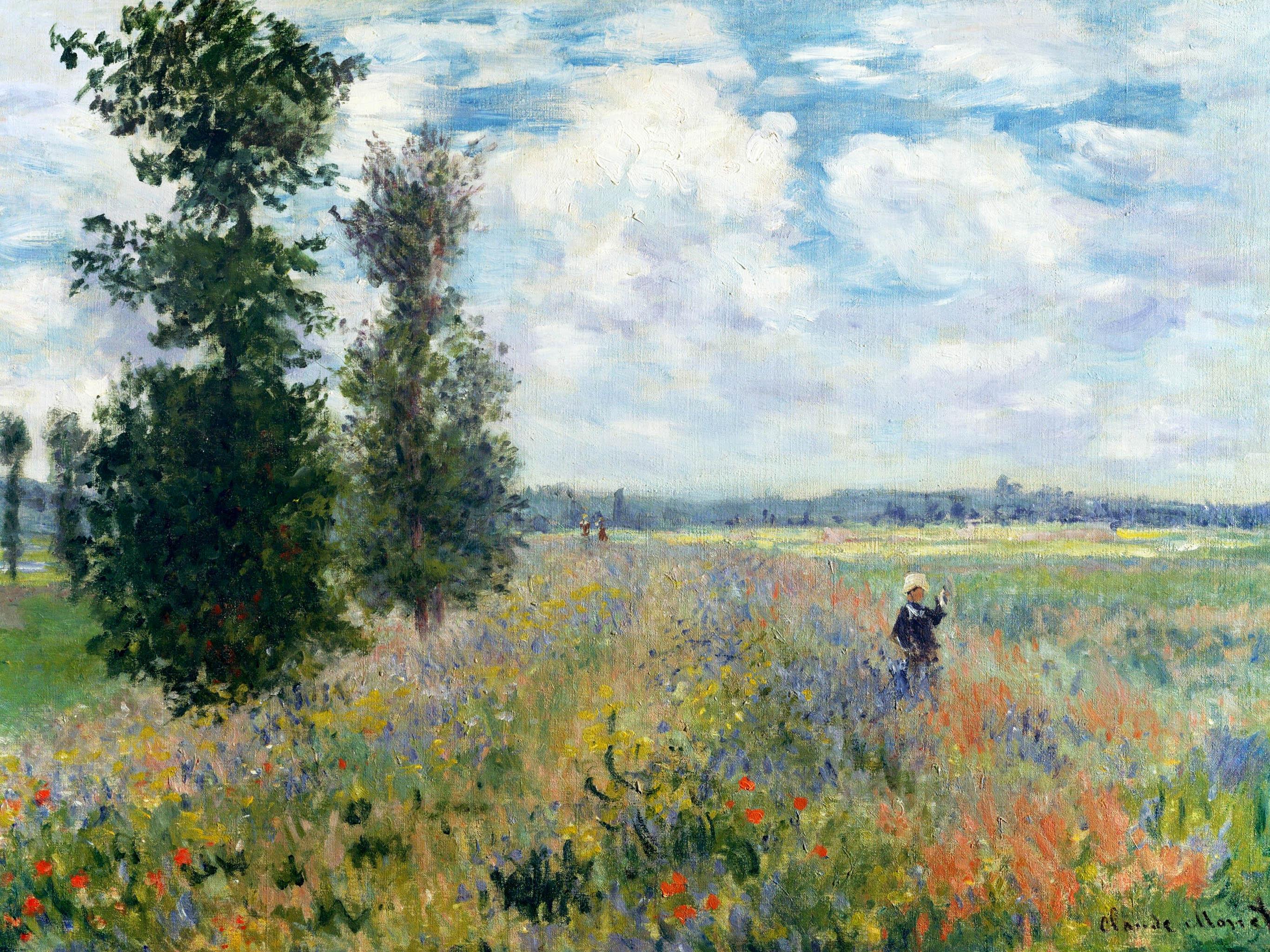 Claude Monet - poppy fields near argenteuil 2732x2048