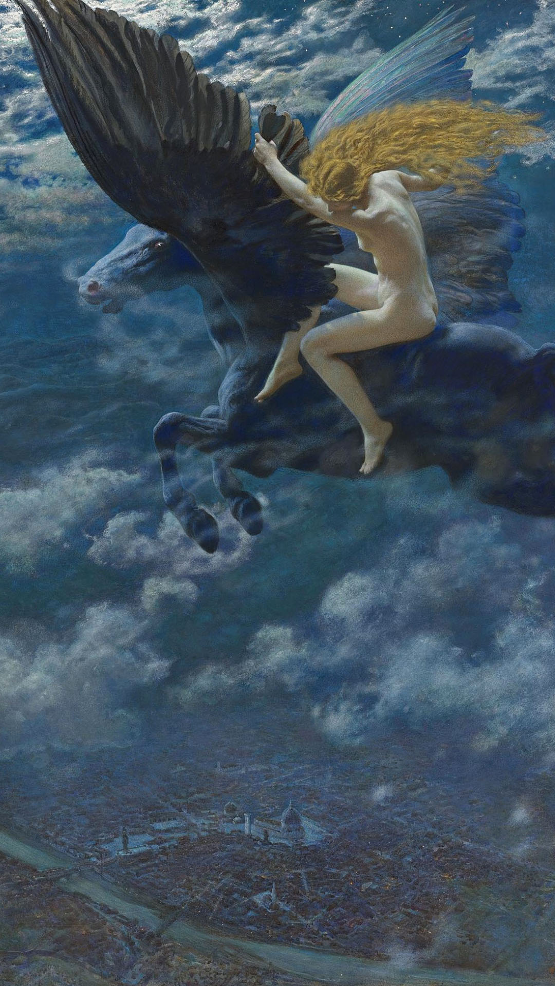 Edward Robert Hughes - Dream Idyll (A Valkyrie) 1080x1920