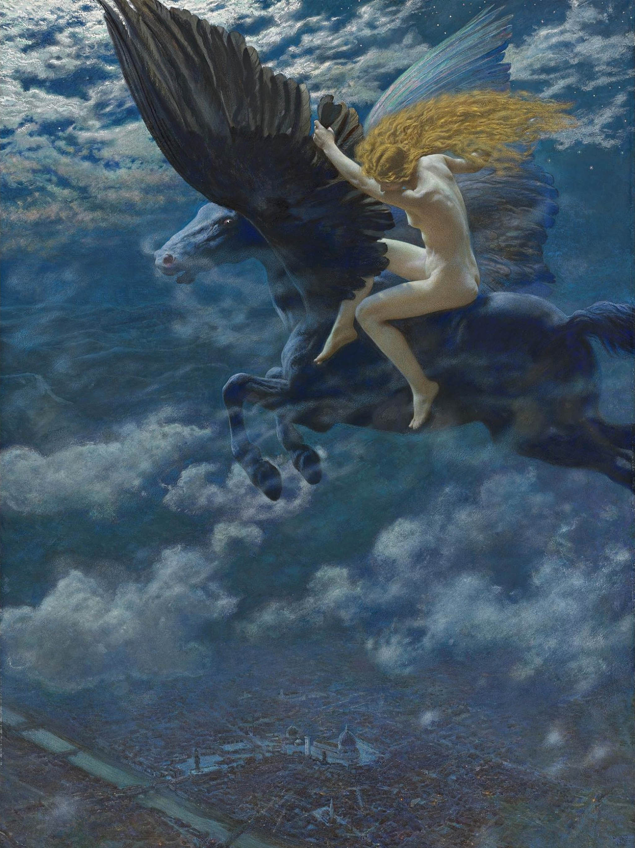 Edward Robert Hughes - Dream Idyll (A Valkyrie) 2048x2732