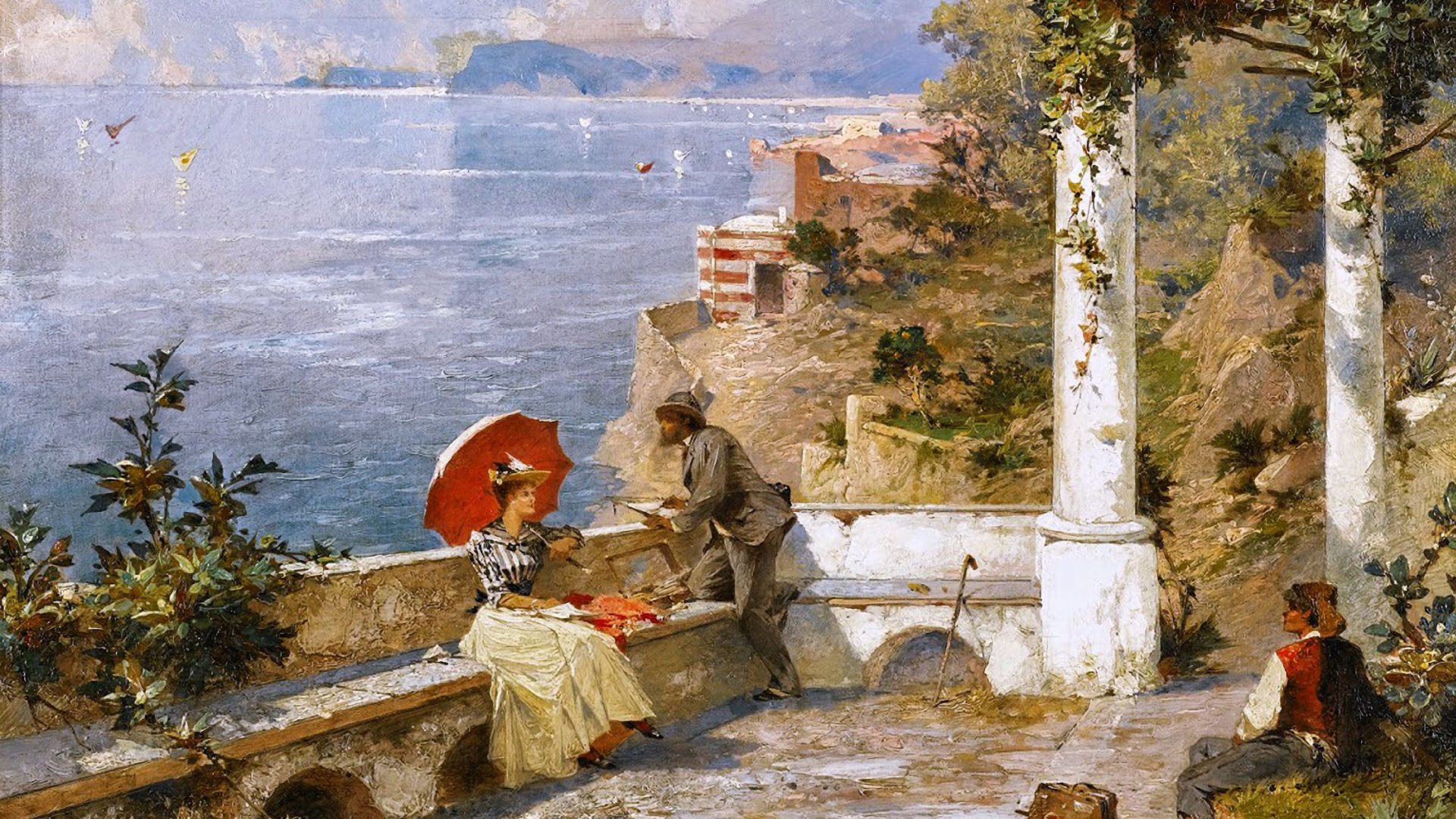 Franz Richard Unterberger - Amalfi Coast 1920x1080