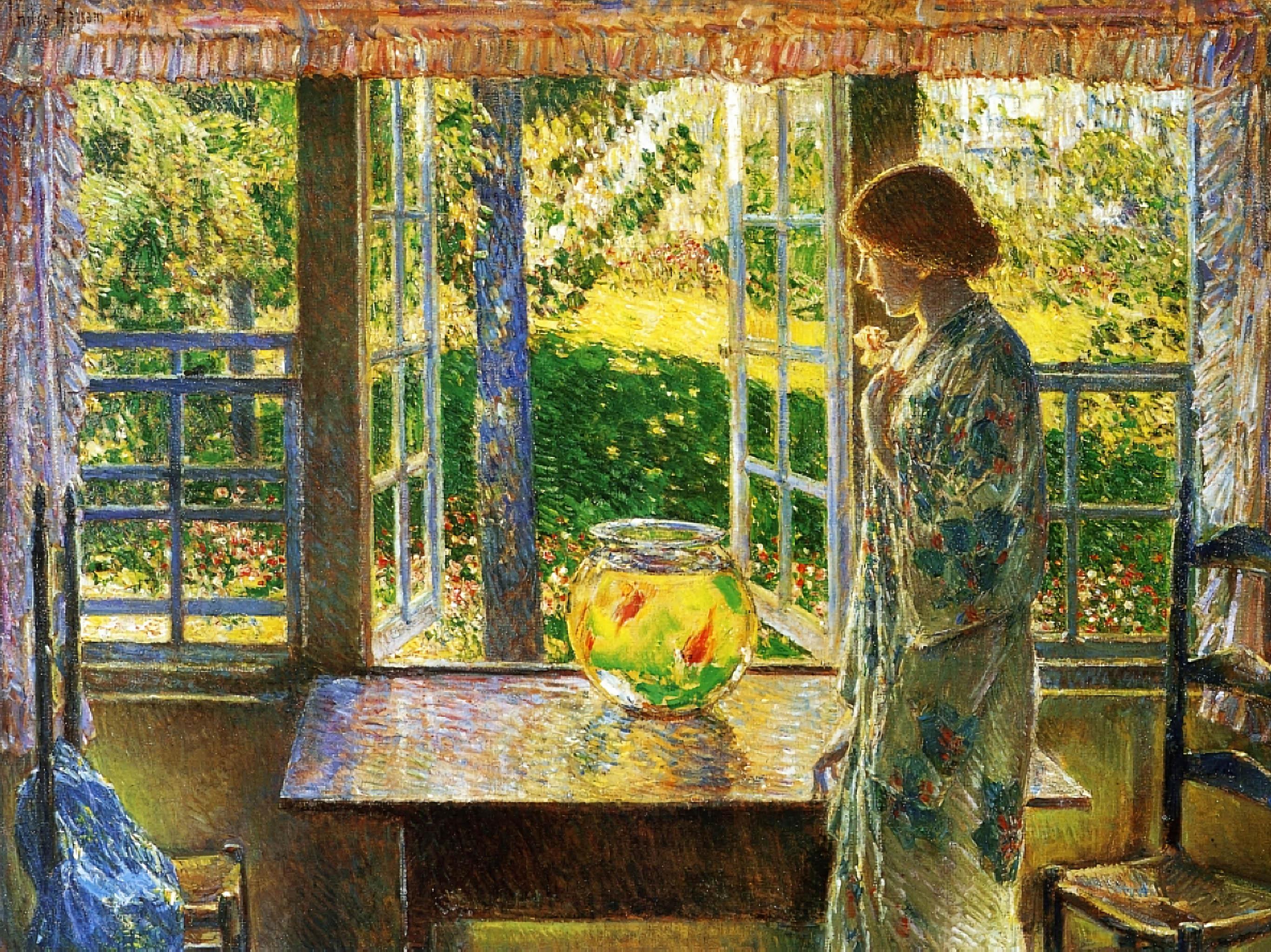 Frederick Childe Hassam - The Goldfish Window 2732x2048