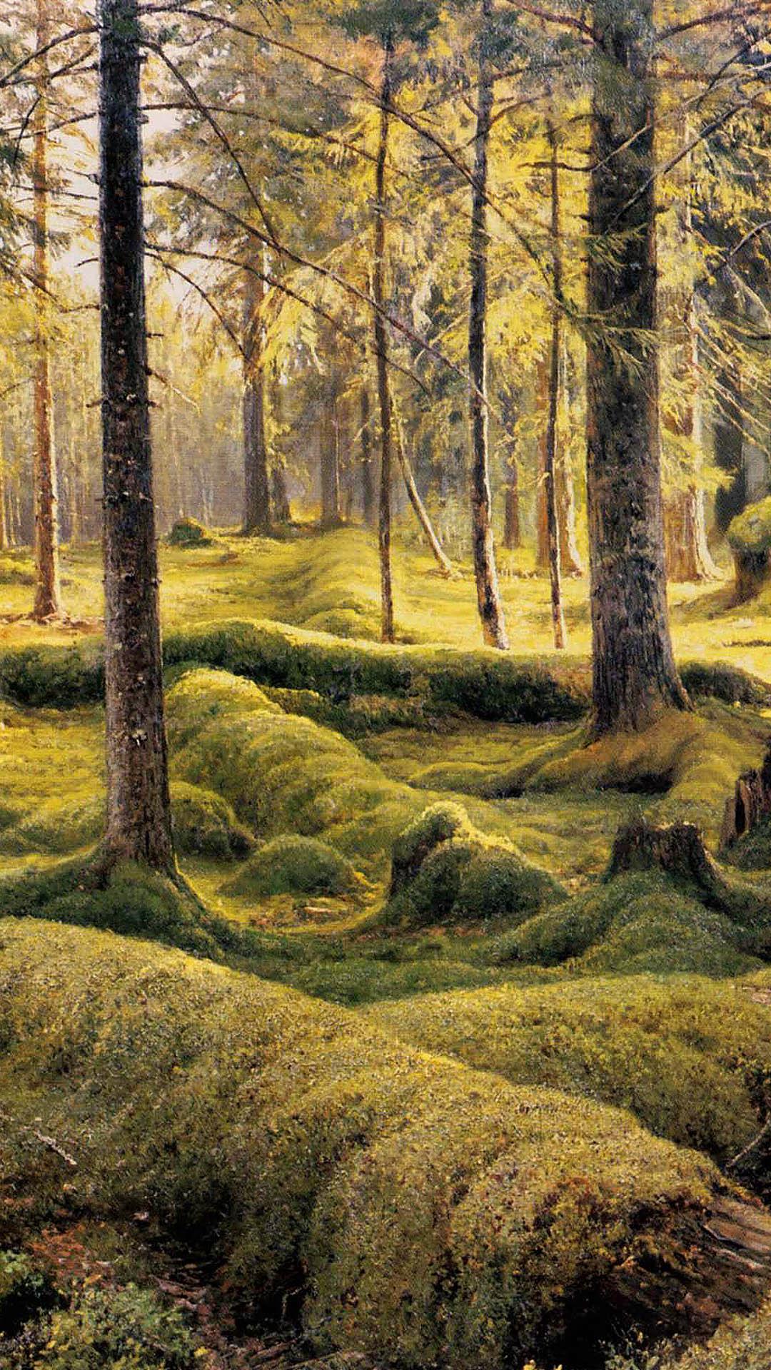 Iwan Schischkin - Forest cemetery 1080x1920