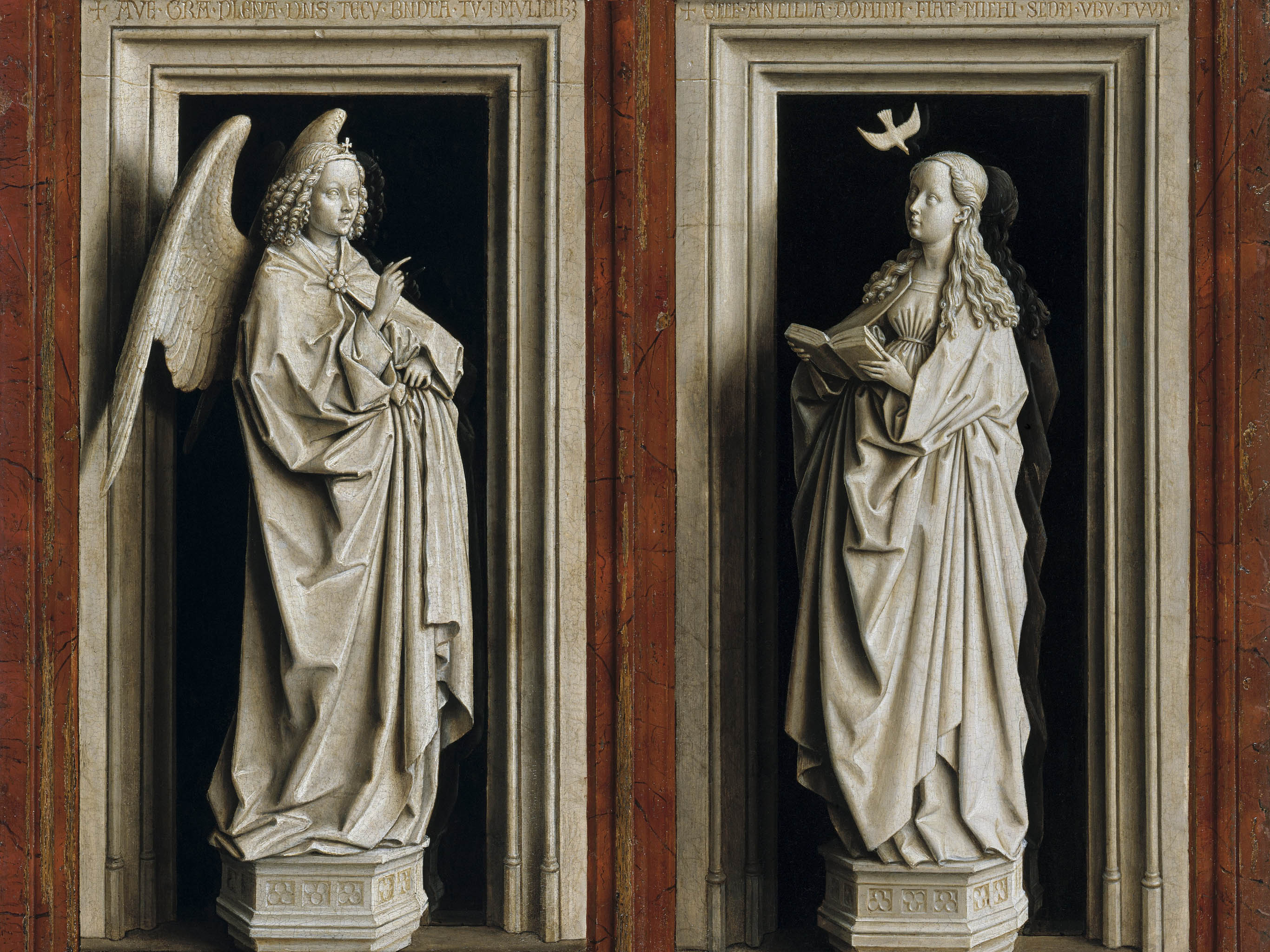 Jan van Eyck - The Annunciation Diptych 2732x2048