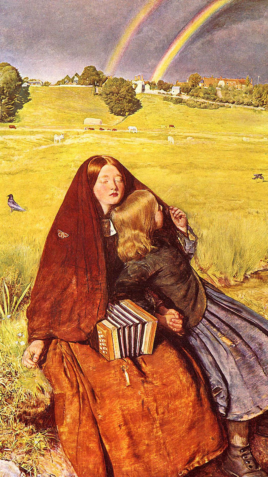 John Everett Millais - The Blind Girl 1080x1920