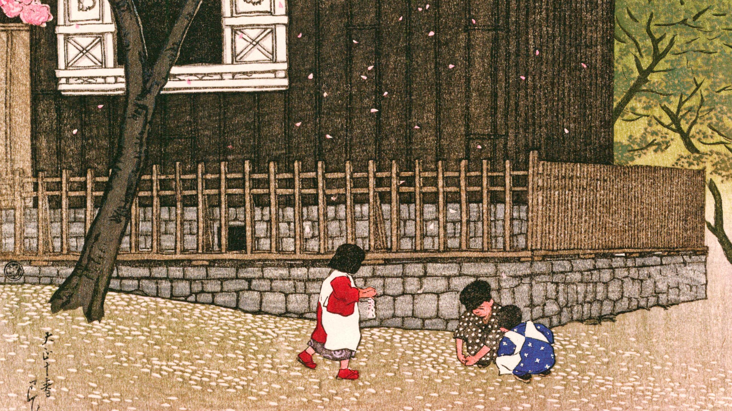Kawase Hasui - Haru no atagoyama 2560x1440