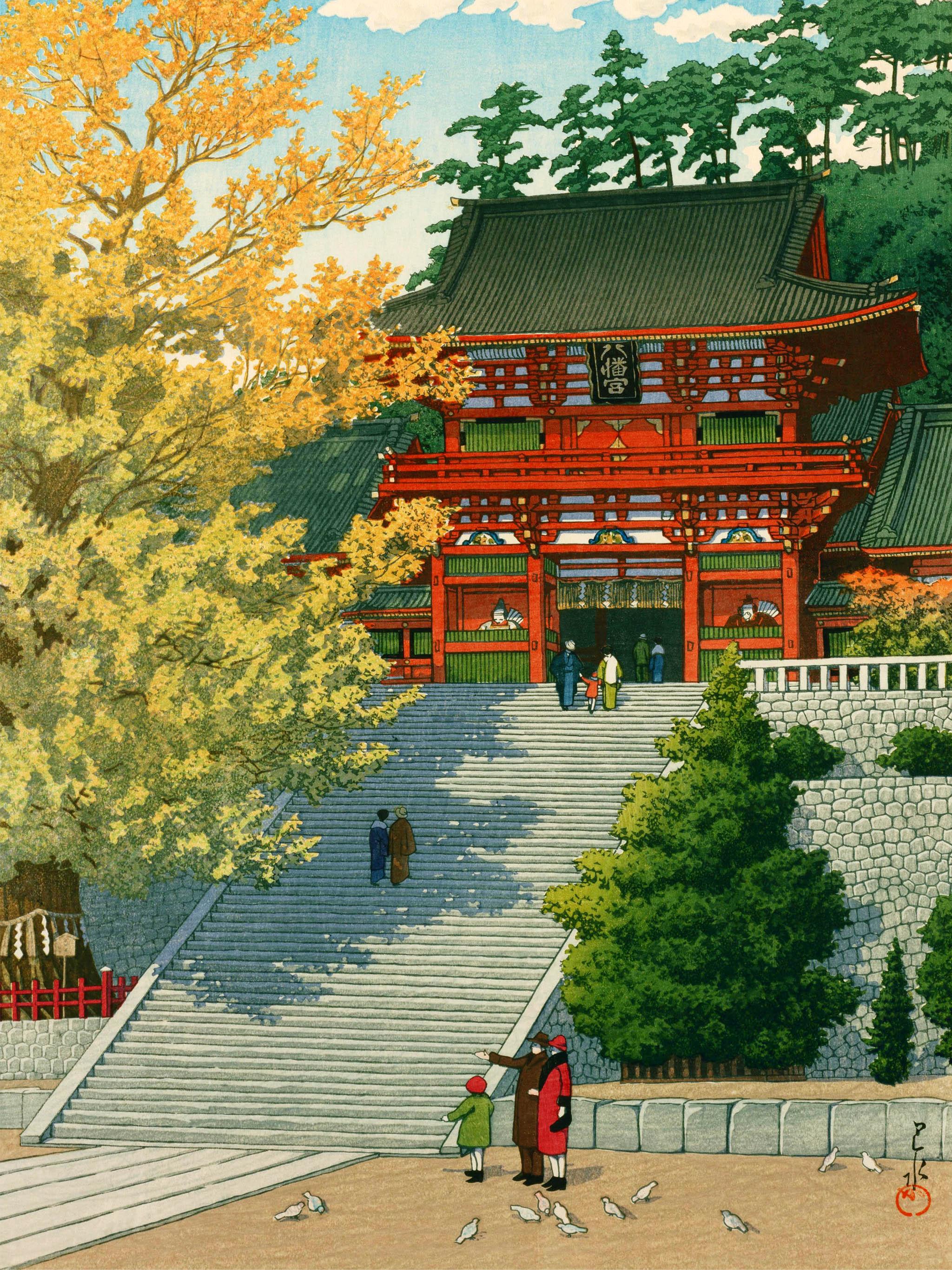 Kawase Hasui - Tsuruoka hachimangu 2048x2732