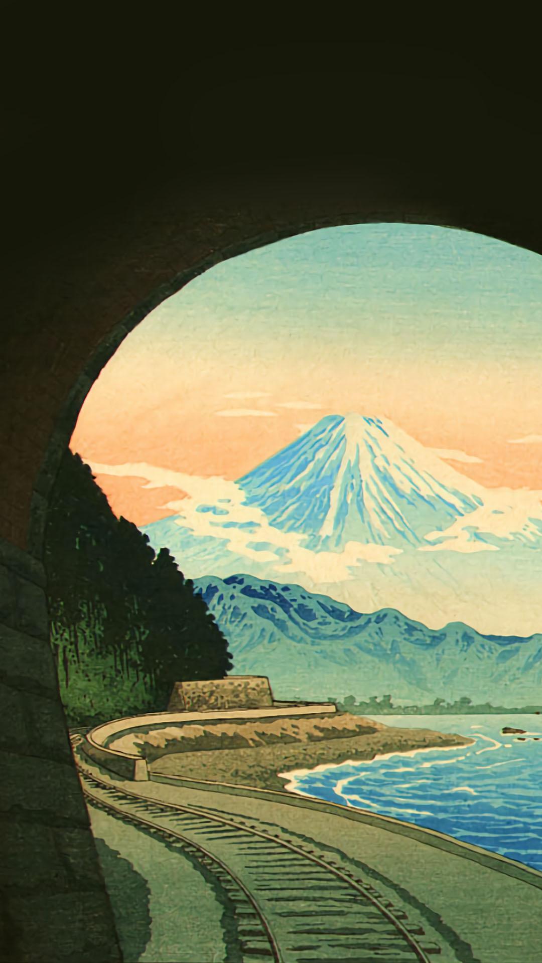 Takahashi Shotei - Sattatouge tunnel 1080x1920