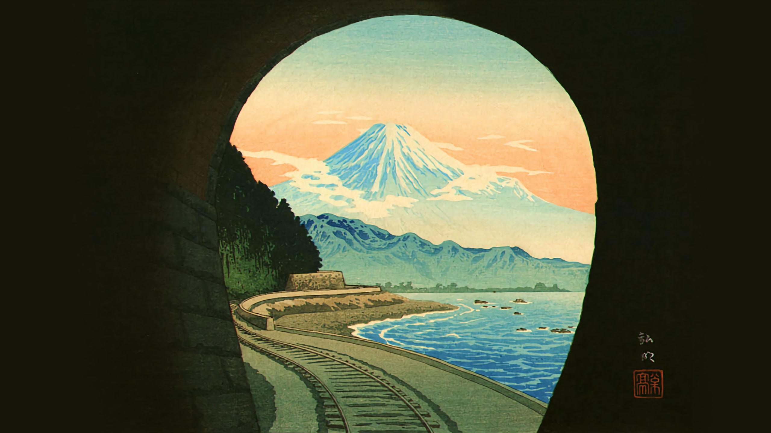 Takahashi Shotei - Sattatouge tunnel 2560x1440
