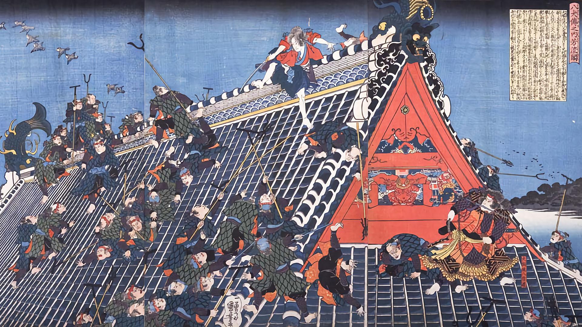 Utagawa Kuniyoshi - Hakkendenn nouchi houryukaku 1920x1080