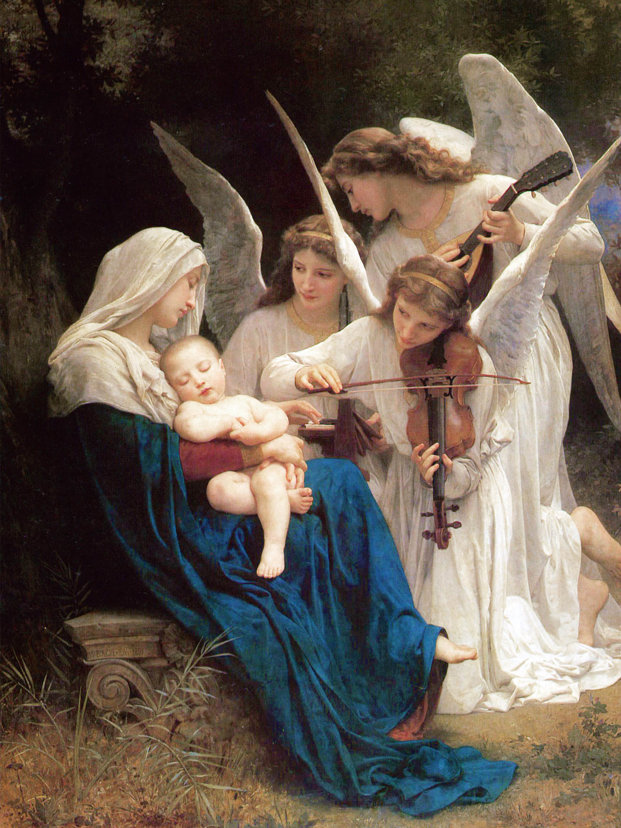 William Adolphe Bouguereau - Song of the Angels 2048x2732