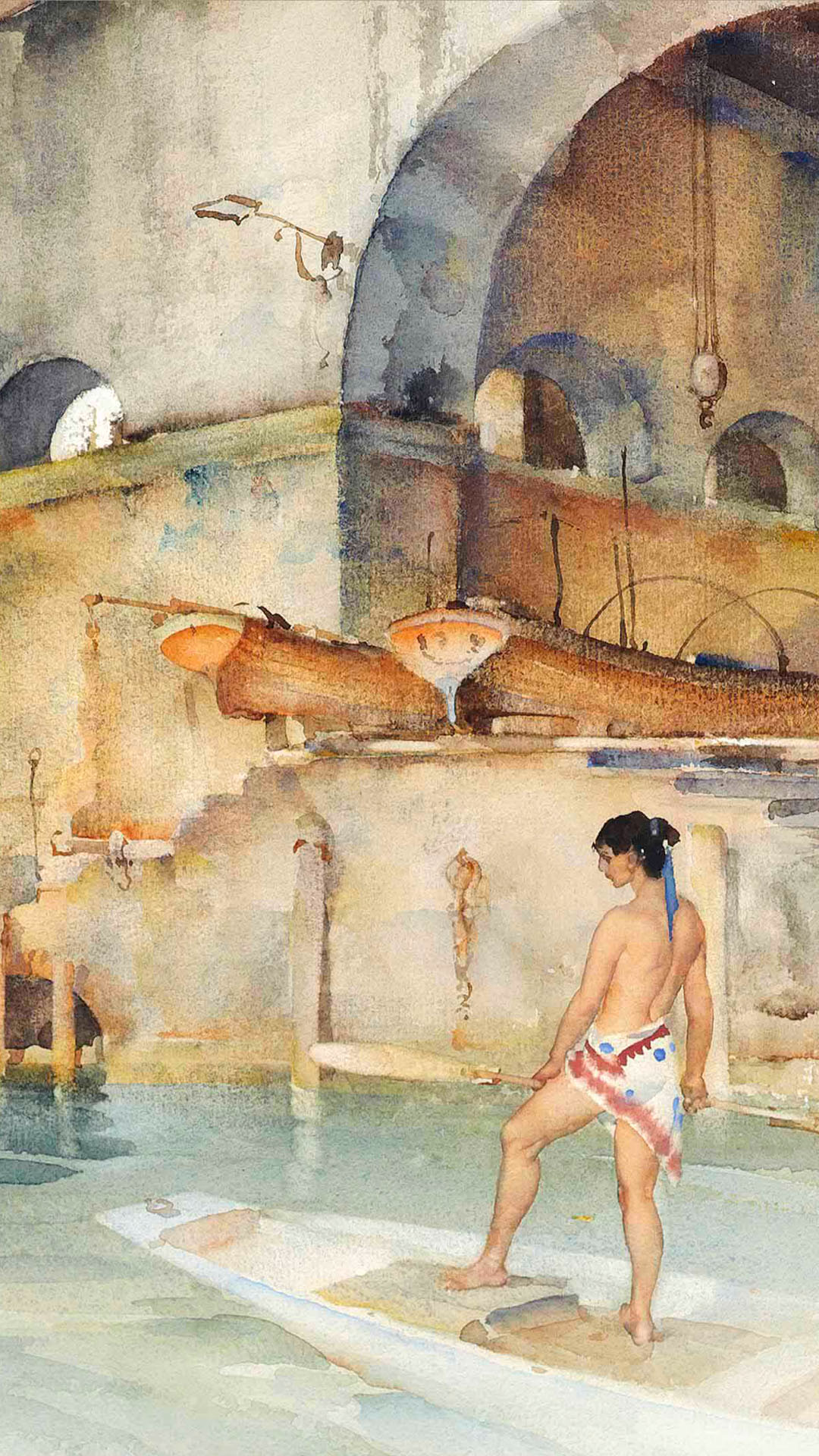 William Russell Flint - Marchesas Boathouse 1080x1920