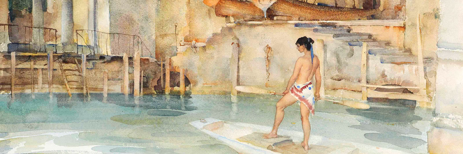 William Russell Flint - Marchesas Boathouse 1500x500