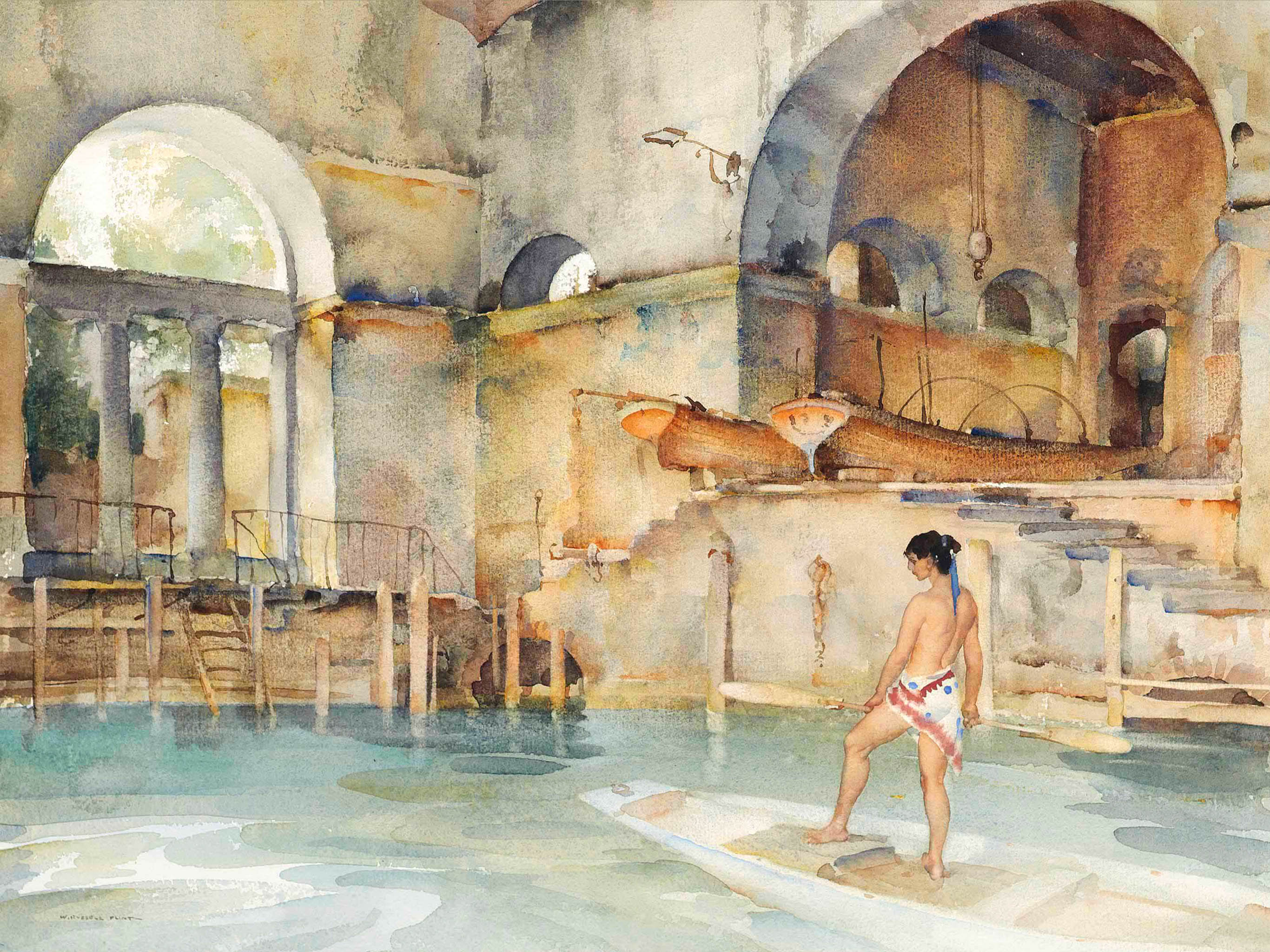 William Russell Flint - Marchesas Boathouse 2732x2048