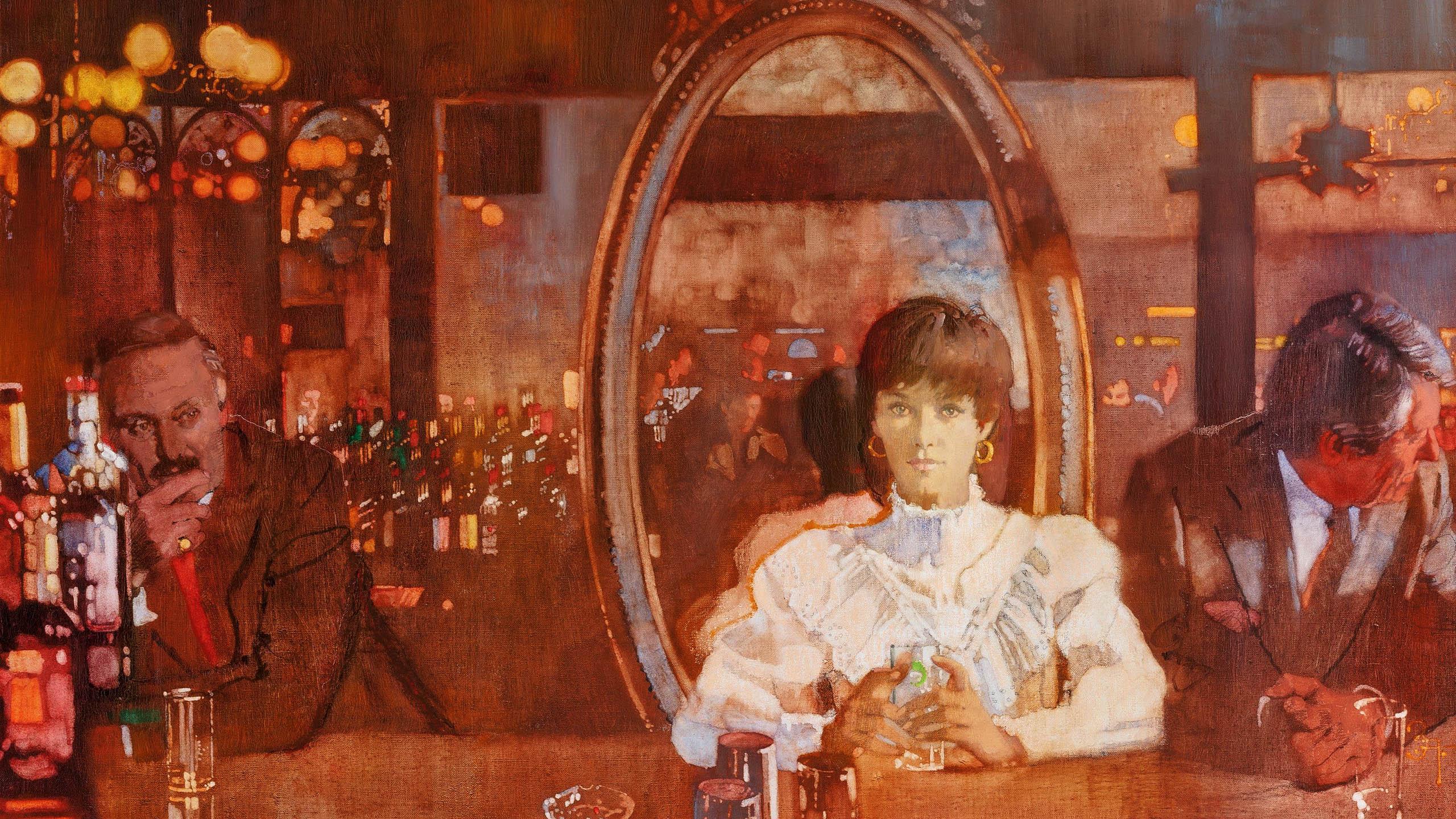 Bernie Fuchs - Woman at Bar 2560x1440
