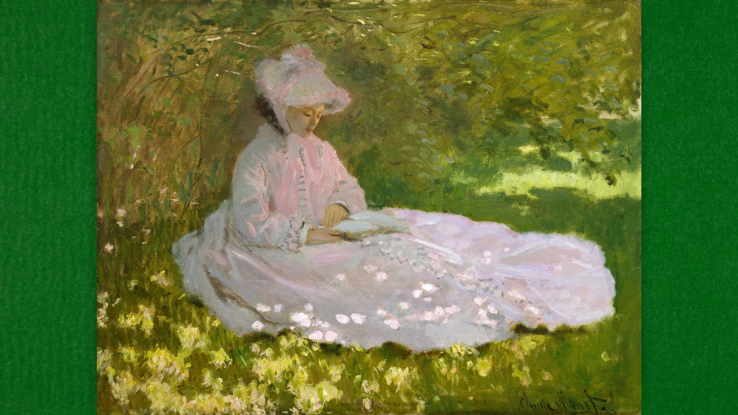 Claude Monet - Springtime 2560x1440