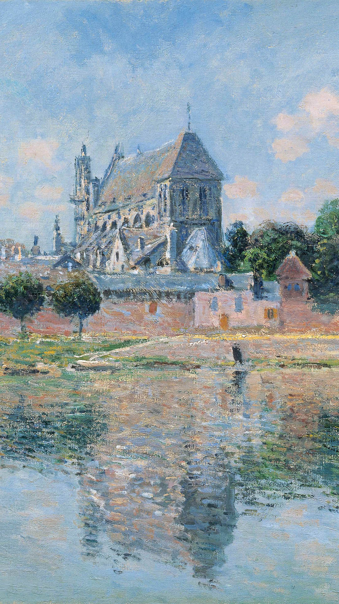 Claude Monet - View of the Church at Vernon 1080x1920