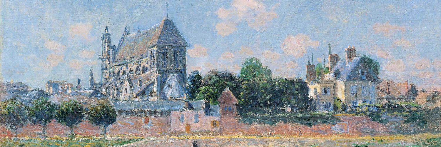 Claude Monet - View of the Church at Vernon 1500x500