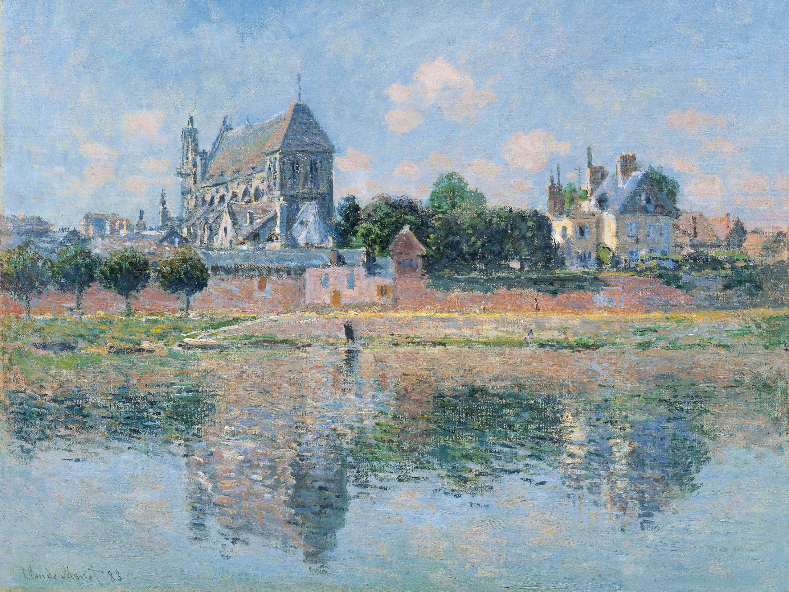 Claude Monet - View of the Church at Vernon 2732x2048
