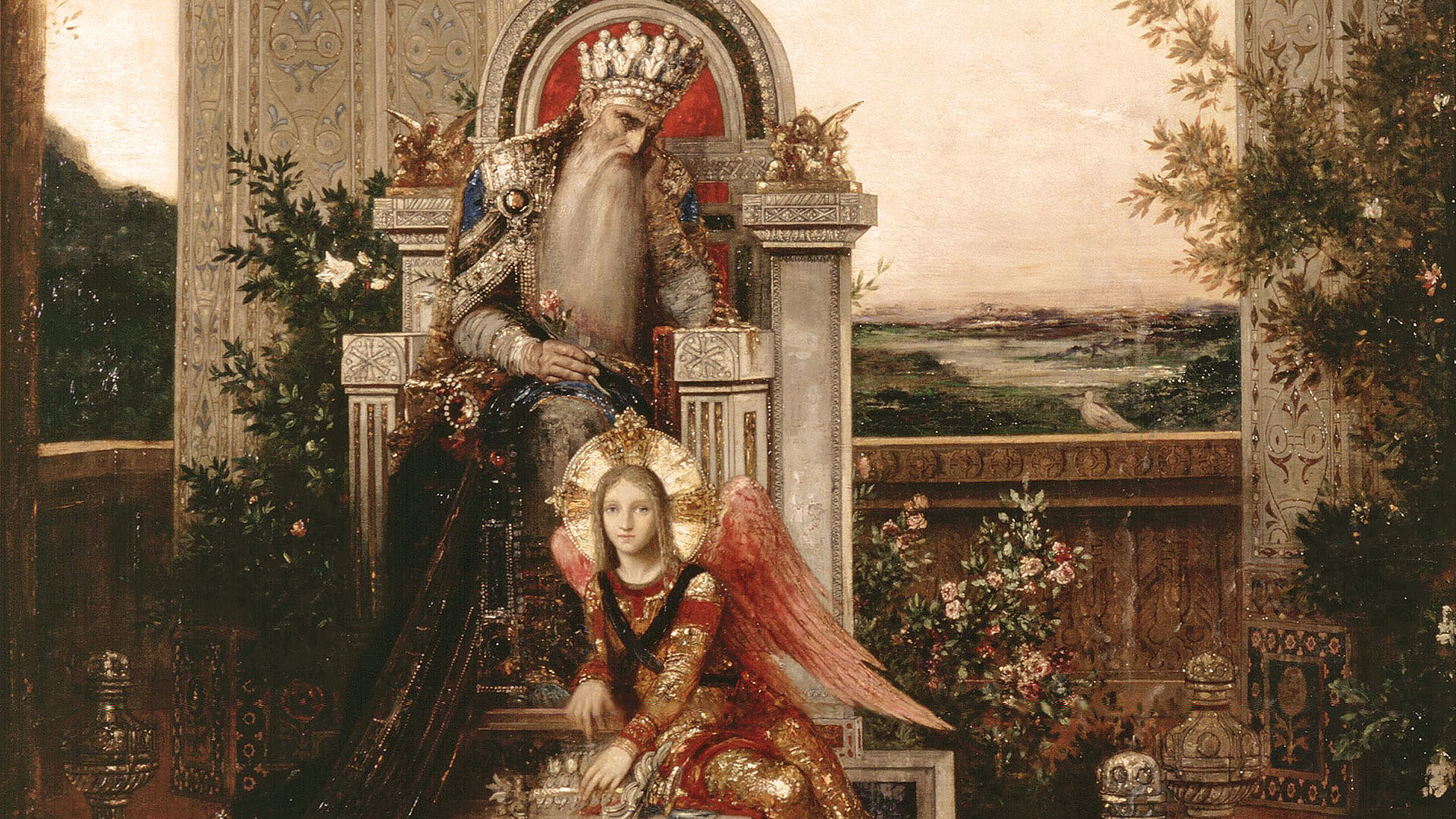 Gustave Moreau - King david 1920x1080
