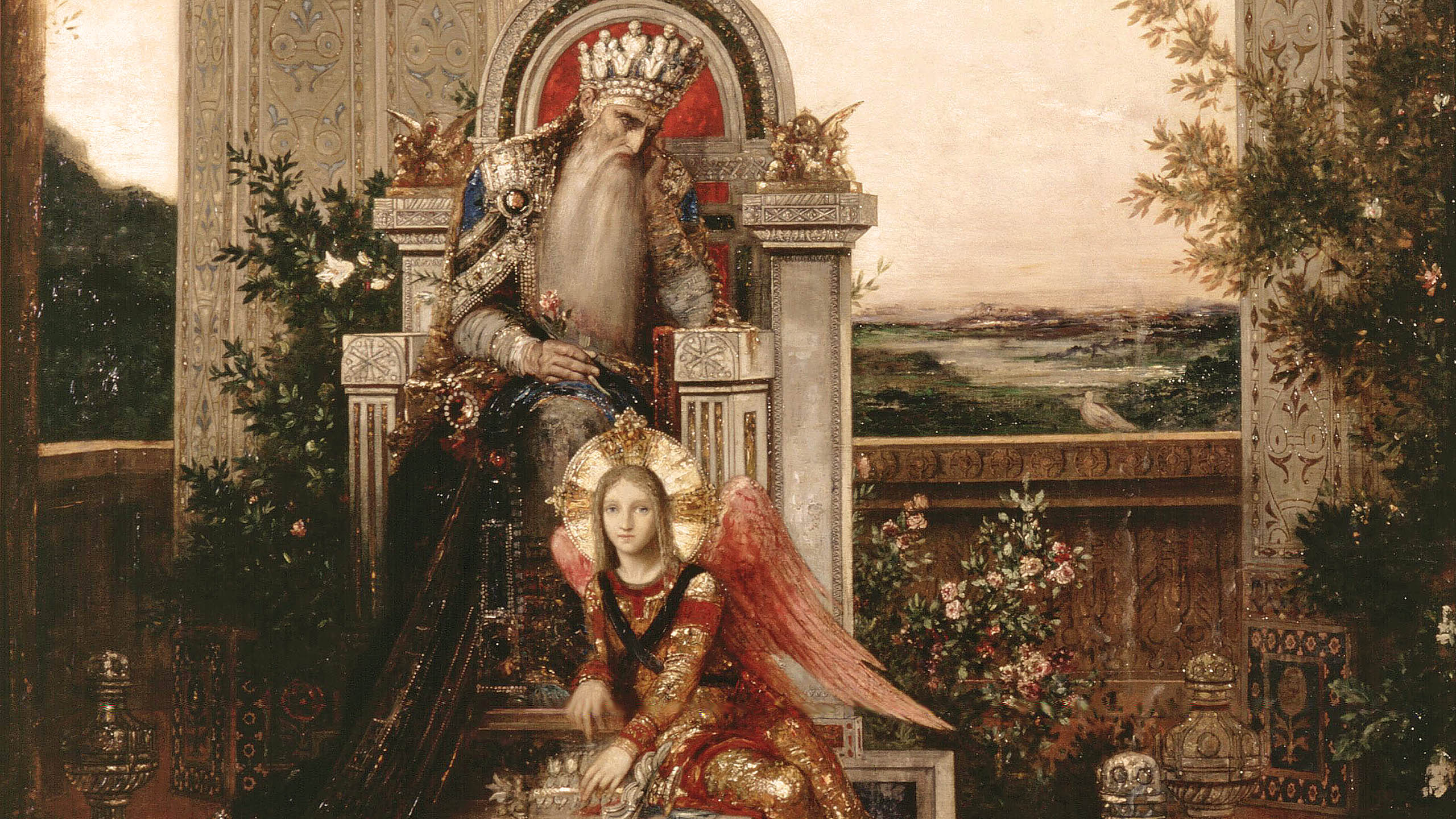 Gustave Moreau - King david 2560x1440