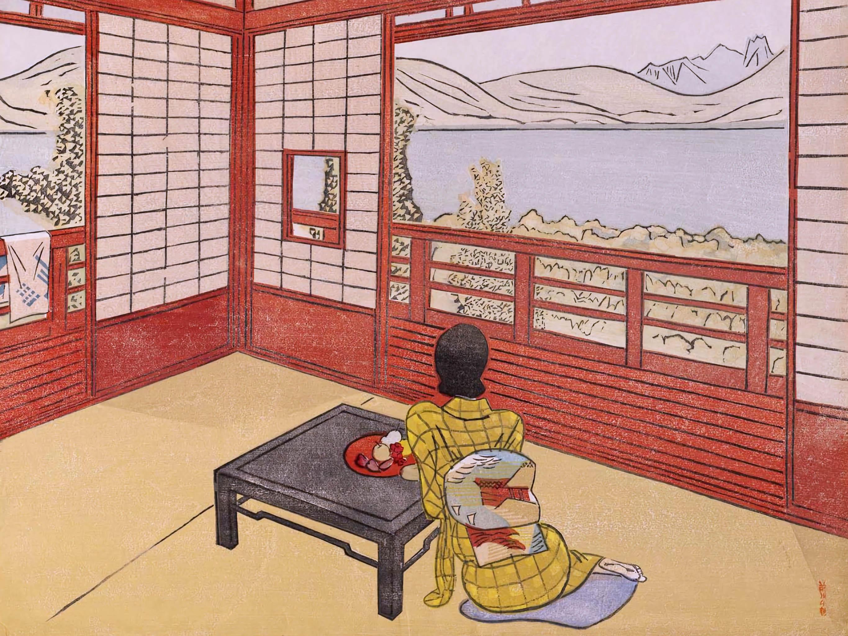 Maekawa Senpan - Umi no mieru yado 2732x2048