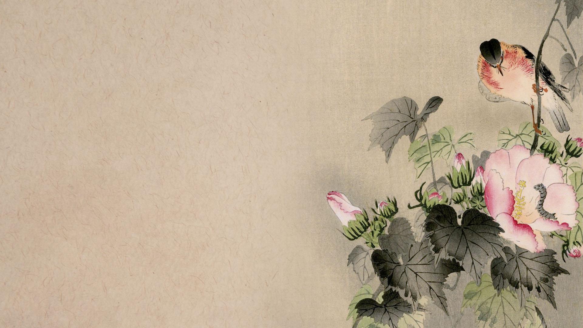 Ofara Koson - Fuyou to nobitaki to mushi 1920x1080