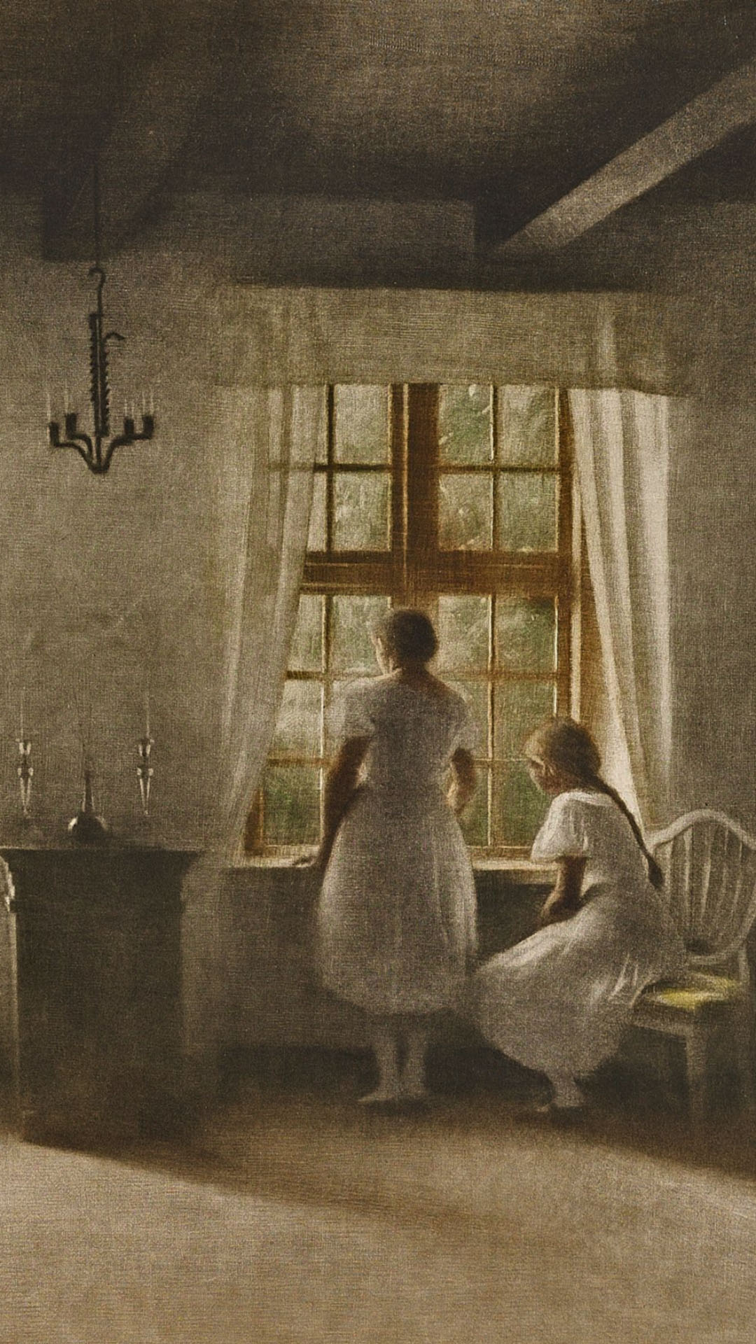 Peter Ilsted - Two Girls at a Window 1080x1920