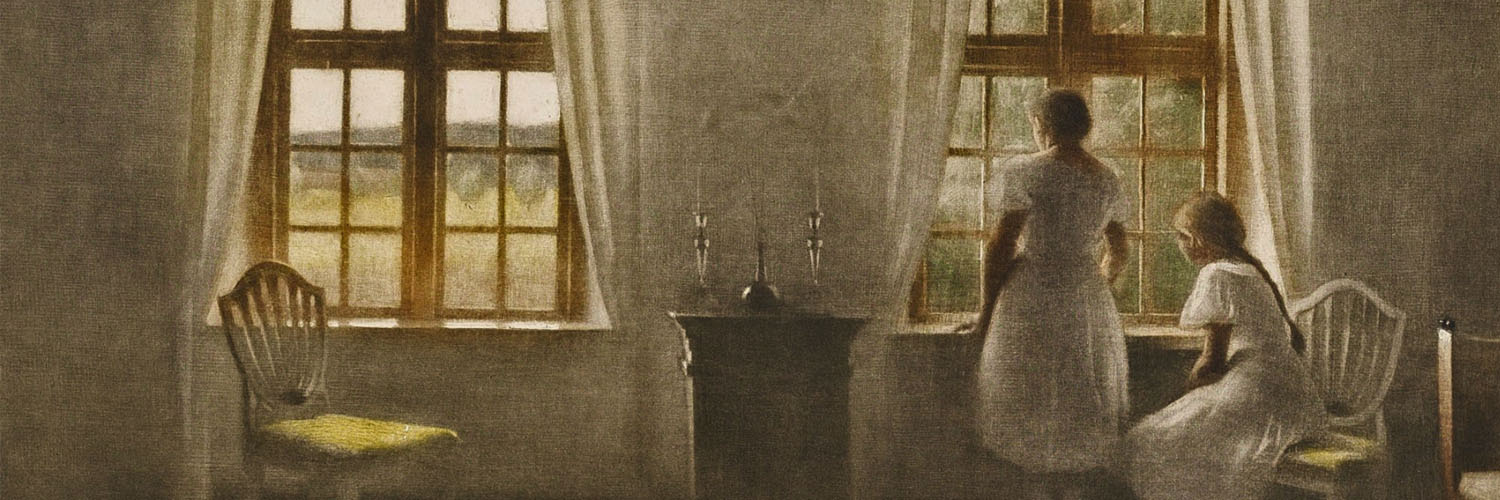 Peter Ilsted - Two Girls at a Window 1500x500