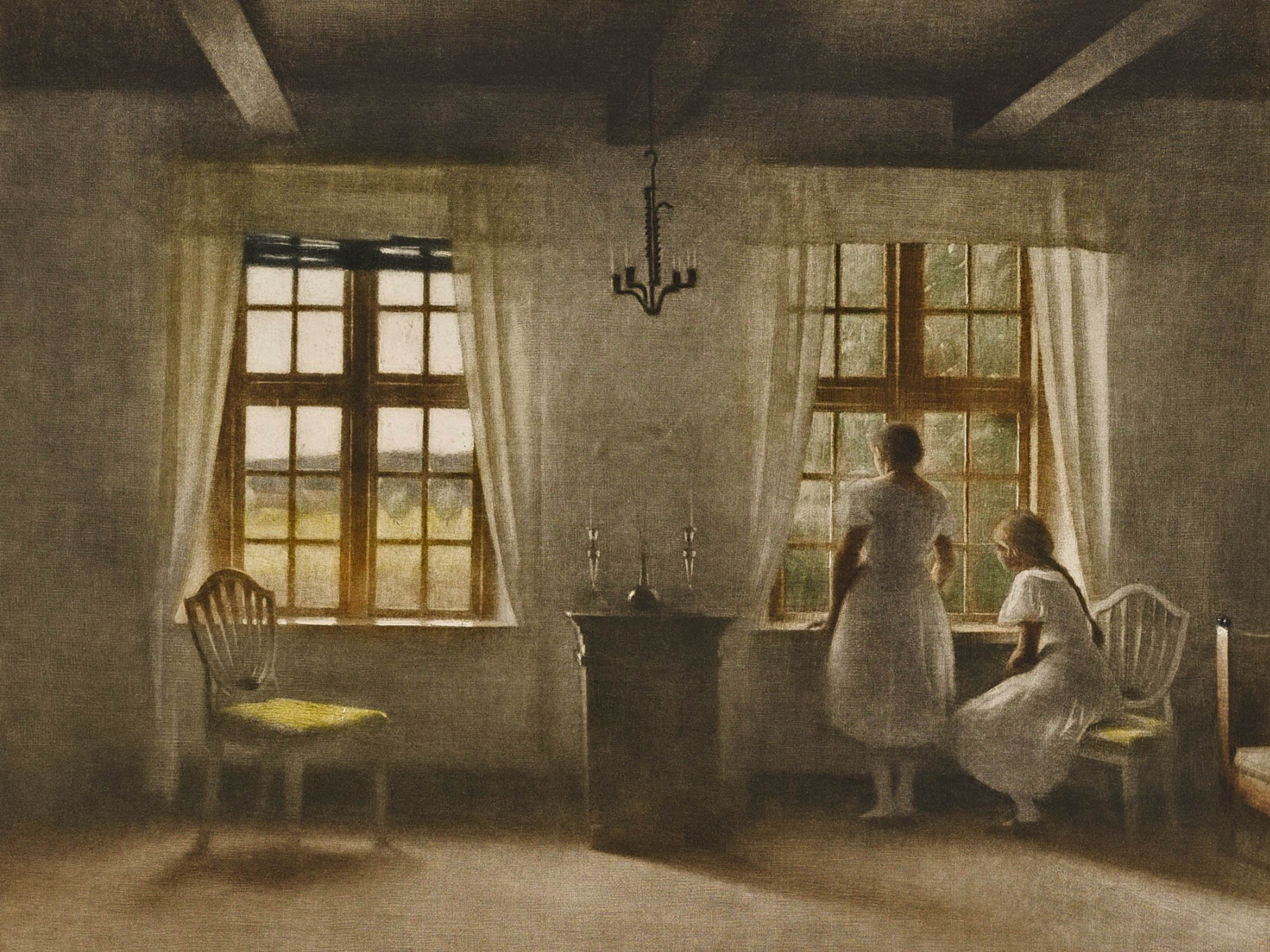 Peter Ilsted - Two Girls at a Window 2732x2048