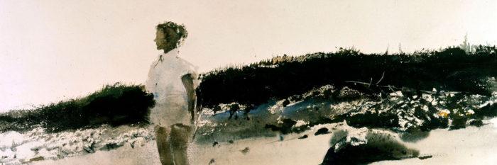 Andrew Wyeth - Carol on the Beach 1500x500