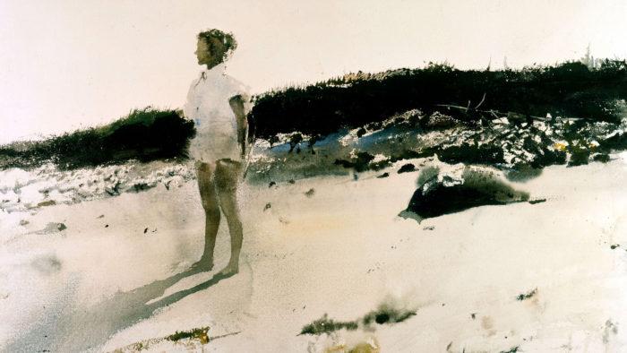 Andrew Wyeth - Carol on the Beach 2560x1440